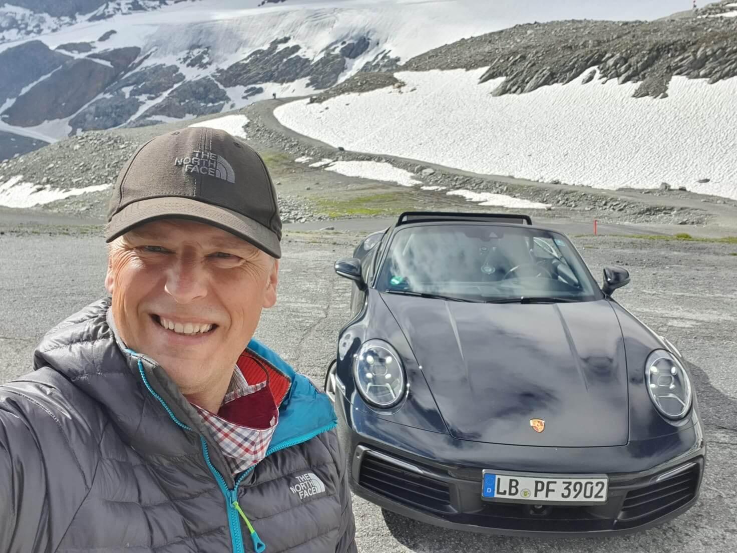 Alex McEwan of Lornham with Porsche